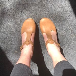 T-strap clog style heels - size 9